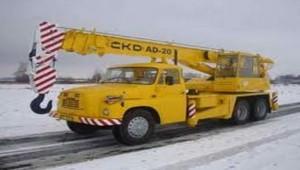 Autožeriav, mobilný žeriav Tatra.